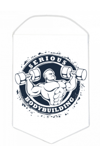 "Вымпел ""Serious bodybuilding"""